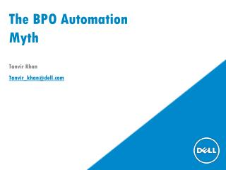 The BPO Automation Myth