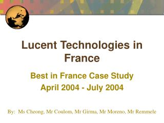 Lucent Technologies in France