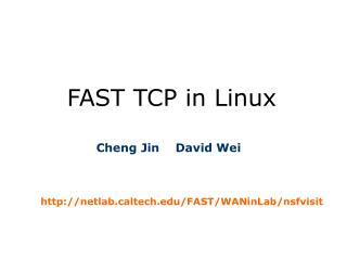 FAST TCP in Linux