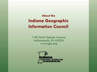 About the Indiana Geographic Information Council