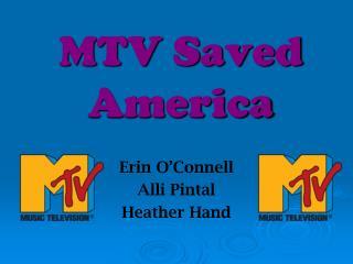 MTV Saved America