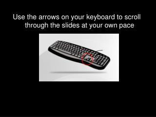 Use the arrows on your keyboard to scroll through the slides at your own pace