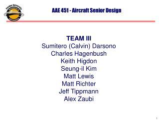 AAE 451 - Aircraft Senior Design