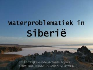 Waterproblematiek in  Siberi ë