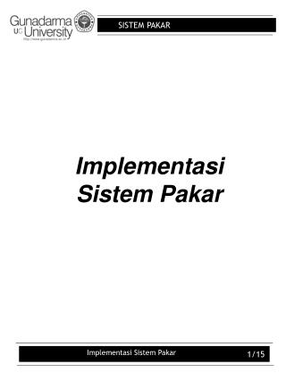 Implementasi Sistem Pakar