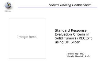 Standard Response Evaluation Criteria in Solid Tumors (RECIST) using 3D Slicer