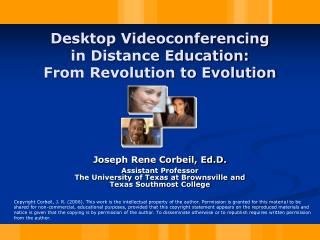 Desktop Videoconferencing in Distance Education: From Revolution to Evolution