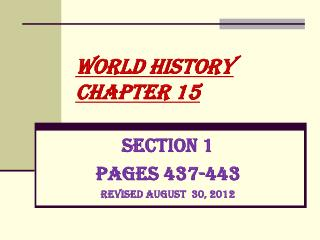 World History Chapter 15