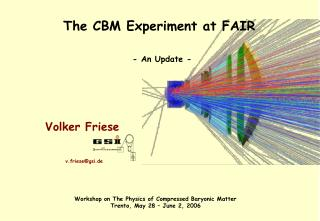 The CBM Experiment at FAIR - An Update -