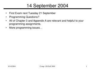 14 September 2004