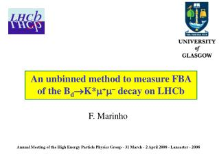 An unbinned method to measure FBA  of the B d  K*  +    decay on LHCb