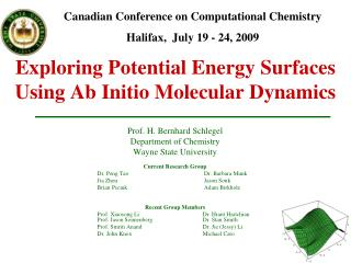 Exploring Potential Energy Surfaces Using Ab Initio Molecular Dynamics