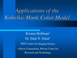 Applications of the  Kubelka-Munk Color Model