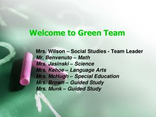 Welcome to Green Team