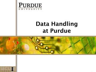 Data Handling at Purdue