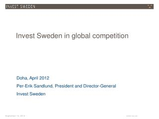 Invest Sweden in global competition