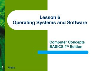 Lesson 6 Operating Systems and Software