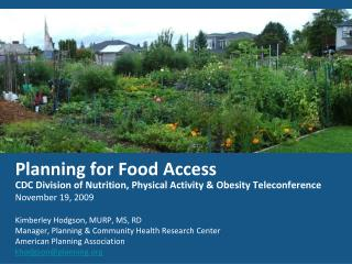 Planning for Food Access