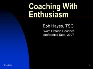 Coaching With Enthusiasm