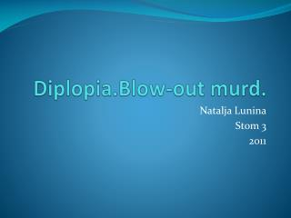Diplopia.Blow-out murd.
