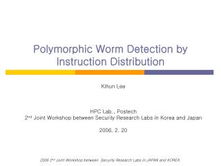 Polymorphic Worm Detection by Instruction Distribution