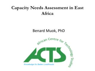Capacity Needs Assessment in East Africa
