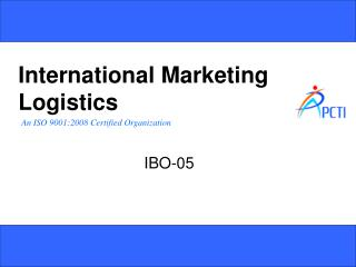 International Marketing Logistics