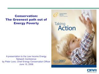 Conservation:  The Greenest path out of  Energy Poverty