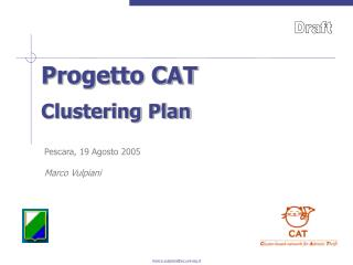 Progetto CAT Clustering Plan