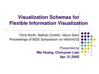 Visualization Schemas for  Flexible Information Visualization