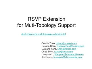 RSVP  Extension  for Muti-Topology Support