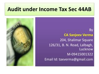 Audit under Income Tax Sec 44AB