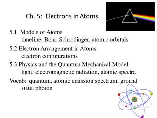 Ch. 5:  Electrons in Atoms