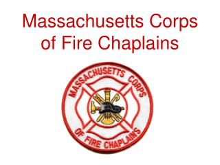 Massachusetts Corps of Fire Chaplains