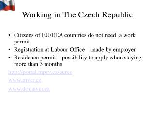 Working in The Czech Republic