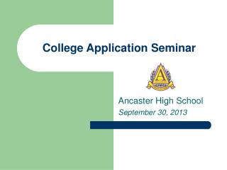 College Application Seminar