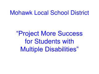 Mohawk Local School District