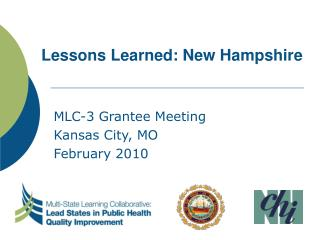 Lessons Learned: New Hampshire