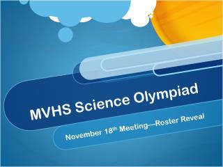 MVHS Science Olympiad