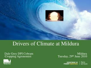 Drivers of Climate at Mildura
