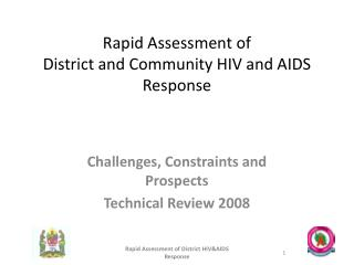 Rapid Assessment of  District and Community HIV and AIDS Response