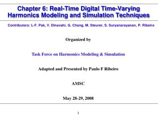Chapter 6: Real-Time Digital Time-Varying Harmonics Modeling and Simulation Techniques