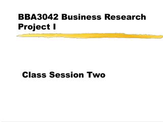 BBA3042 Business Research Project I