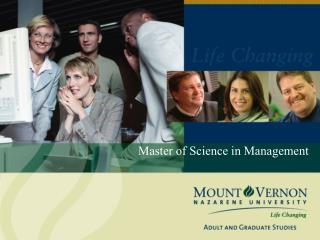 Master of Science in Management