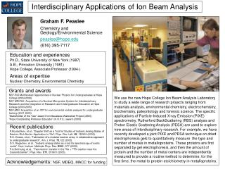 Interdisciplinary Applications of Ion Beam Analysis