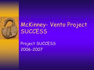 McKinney- Vento Project SUCCESS