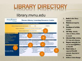 Books  & other library materials   Websites  (arranged by topic)