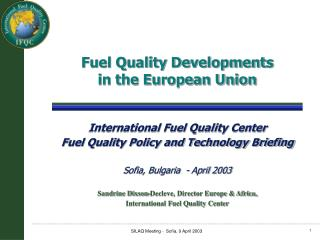 Fuel Quality Developments in the European Union