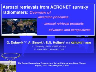 Aerosol retrievals from AERONET sun/sky radiometers:  Overview of