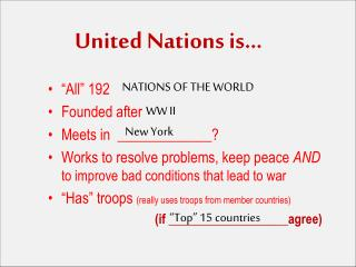 United Nations is…